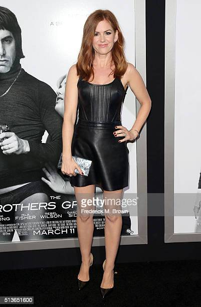 Actress Isla Fisher attends the premiere of Columbia Pictures and Village Roadshow Pictures' 'The Brothers Grimsby' at the Regency Village Theatre on...