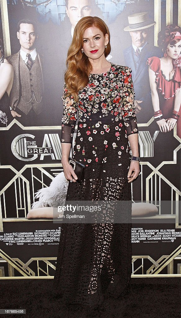 Actress Isla Fisher attends the 'The Great Gatsby' world premiere at Avery Fisher Hall at Lincoln Center for the Performing Arts on May 1, 2013 in New York City.