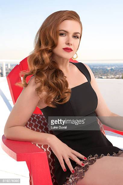 Actress Isla Fisher is photographed for VVV Magazine on December 15 2015 in Los Angeles California