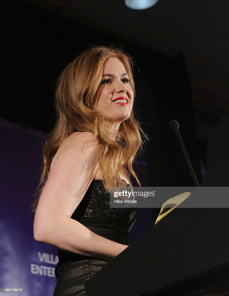 Actress Isla Fisher speaks onstage at the 2nd Annual Australians in Film Awards Gala at Intercontinental Hotel on October 24, 2013 in Beverly Hills, California.