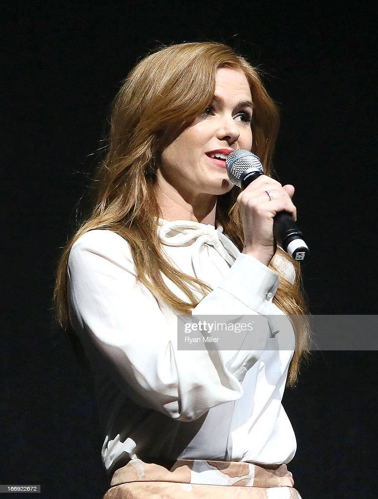 Actress Isla Fisher speaks onstage during the Lionsgate CinemaCon Press Conference Invitational : An Exclusive Product Presentation Highlighting Its 2013 Release Schedule at Caesars Palace during CinemaCon, the official convention of the National Association of Theatre Owners on April 18, 2013 in Las Vegas, Nevada.