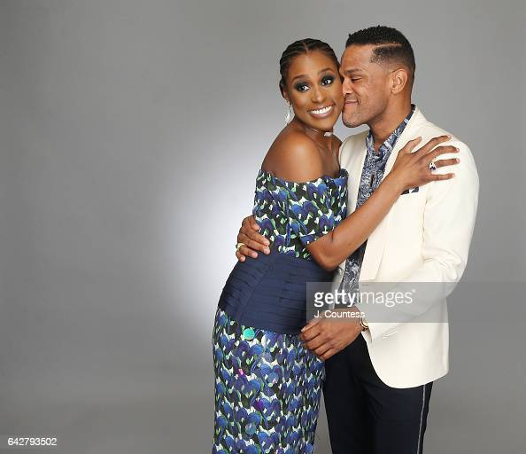 Actress Issa Rae and singer/musician Maxwell pose for a portrait for BET's 2017 American Black Film Festival Honors Awards at The Beverly Hilton...