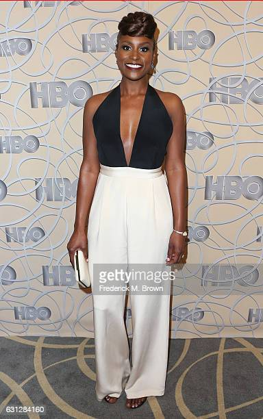 Actress Issa Rae attends HBO's Official Golden Globe Awards After Party at Circa 55 Restaurant on January 8 2017 in Beverly Hills California