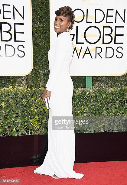 Actress Issa Rae attends the 74th Annual Golden Globe Awards at The Beverly Hilton Hotel on January 8 2017 in Beverly Hills California
