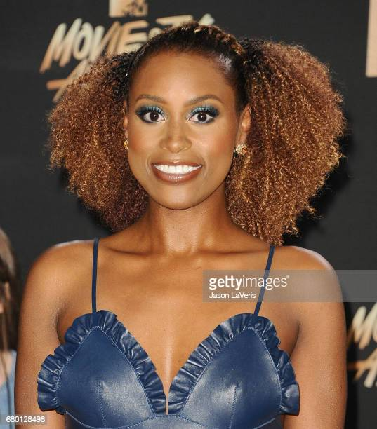 Actress Issa Rae poses in the press room at the 2017 MTV Movie and TV Awards at The Shrine Auditorium on May 7 2017 in Los Angeles California