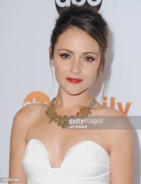 Actress Italia Ricci arrives at Disney ABC Television Group's 2015 TCA Summer Press Tour at the Beverly Hilton Hotel on August 4 2015 in Beverly...