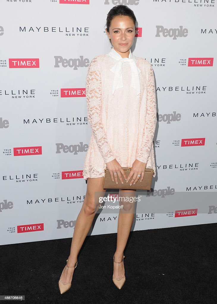 Actress Italia Ricci arrives at People's 'Ones To Watch' Event at Ysabel on September 16, 2015 in West Hollywood, California.