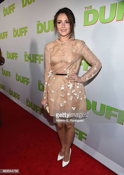 Actress Italia Ricci attends a Fan Screening of CBS Films' 'The Duff' at the TCL Chinese 6 Theatres on February 12 2015 in Hollywood California