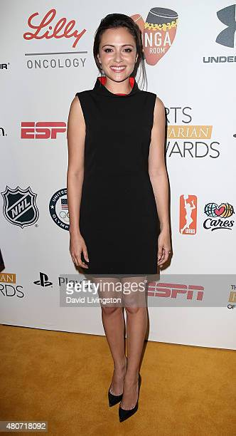 Actress Italia Ricci attends the 2015 Sports Humanitarian of the Year Awards at the Conga Room at LA Live on July 14 2015 in Los Angeles California