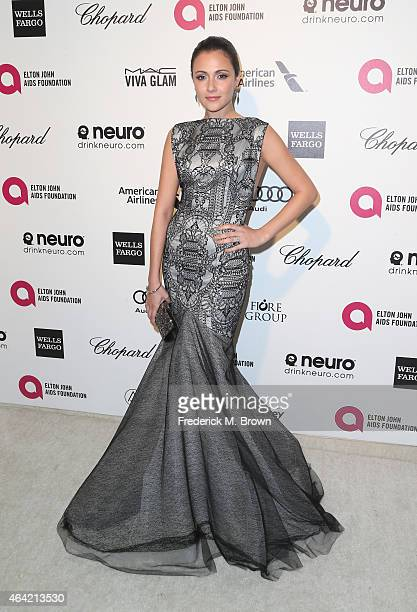 Actress Italia Ricci attends the 23rd Annual Elton John AIDS Foundation's Oscar Viewing Party on February 22 2015 in West Hollywood California