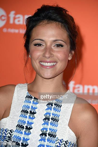 Actress Italia Ricci attends the Disney/ABC Television Group 2014 Television Critics Association Summer Press Tour at The Beverly Hilton Hotel on...