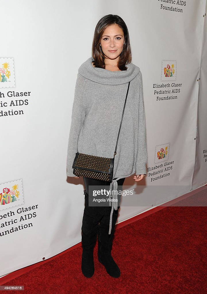 Actress Italia Ricci attends the Elizabeth Glaser Pediatric AIDS Foundation's 26th Annual A Time For Heroes Family Festival at Smashbox Studios on...