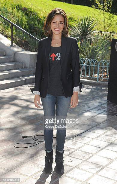 Actress Italia Ricci attends the Stand Up To Cancer Press Conference at Los Angeles City Hall on August 27 2014 in Los Angeles California