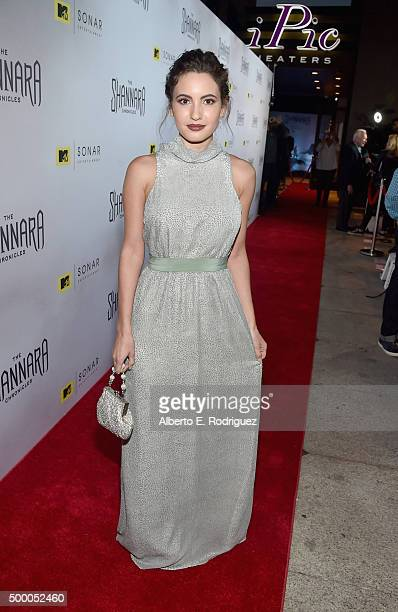 Actress Ivana Baquero attends the premiere of MTV and Sonar Entertainment's 'The Shannara Chronicles' at iPic Theaters on December 4 2015 in Los...