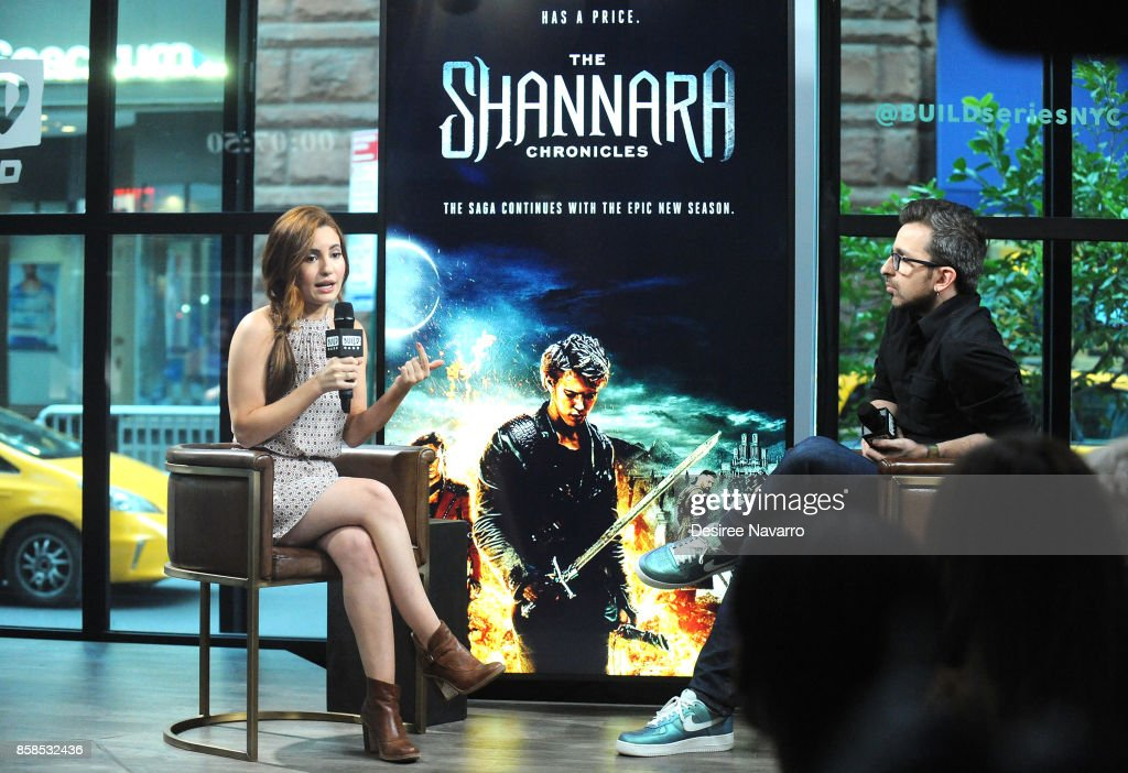 Actress Ivana Baquero (L) visits Build to discuss 'The Shannara Chronicles' at Build Studio on October 6, 2017 in New York City.