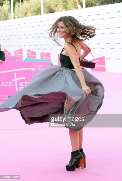 Actress Ivana Lotito attends 'Stuck' webseries photocall during the 2012 RomaFictionFest at Auditorium Parco della Musica on October 3 2012 in Rome...