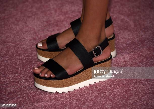 Actress Izabella Alvarez shoe detail attends the 5th Annual Beautycon Festival Los Angeles at the Los Angeles Convention Center on August 12 2017 in...