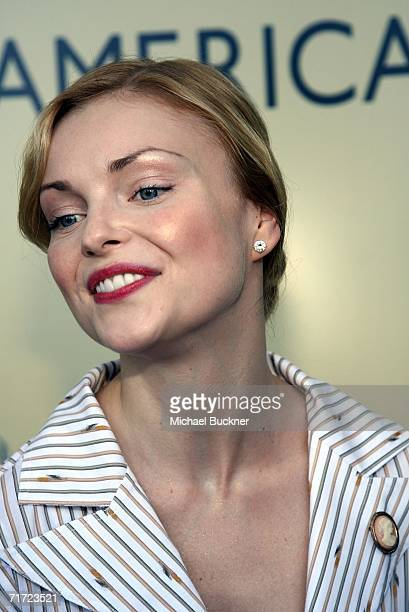 Actress Izabella Miko arrives at the BAFTA/LAAcademy of Television Arts and Sciences Tea Party at the Century Hyatt on August 26 2006 in Century City...