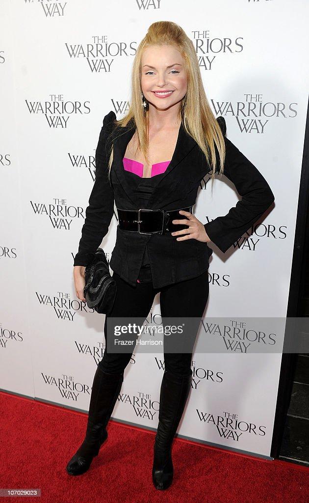 Actress Izabella Miko arrives at 'The Warrior's Way' screening held at CGV Cinemas on November 19, 2010 in Los Angeles, California.