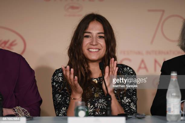Actress Izia Higelin attends the 'Rodin' press conference during the 70th annual Cannes Film Festival at Palais des Festivals on May 24 2017 in...