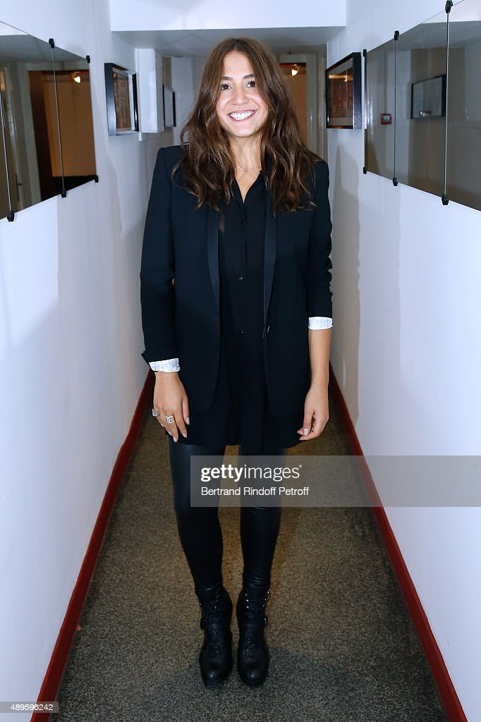 Actress Izia Higelin attends the 'Vivement Dimanche' French TV Show at Pavillon Gabriel on September 22, 2015 in Paris, France.