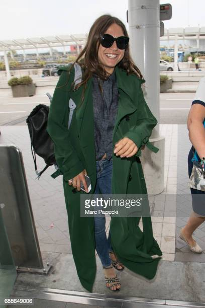 Actress Izia Higelin leaves Nice airport during the 70th annual Cannes Film Festival at on May 26 2017 in Cannes France