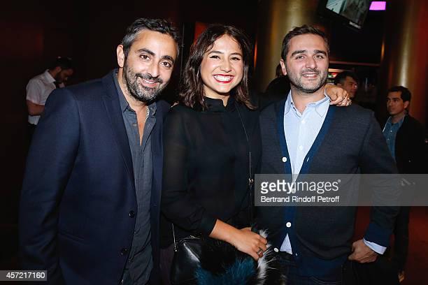 Actress Izia Higelin standing between directors Eric Toledano and Olivier Nakache attend the Samba Premiere to Benefit 'CekeDuBonheur' which...