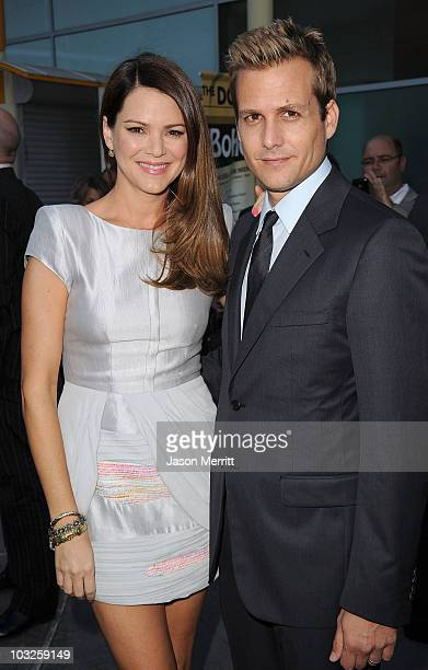 Actress Jacinda Barrett and actor Gabriel Macht arrive at the premiere of Paramount Pictures' 'Middle Men' on August 5 2010 in Los Angeles California