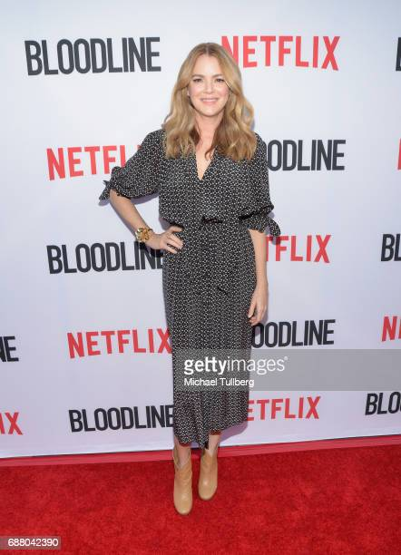 Actress Jacinda Barrett attends the premiere of Netflix's 'Bloodline' Season 3 at Arclight Cinemas Culver City on May 24 2017 in Culver City...