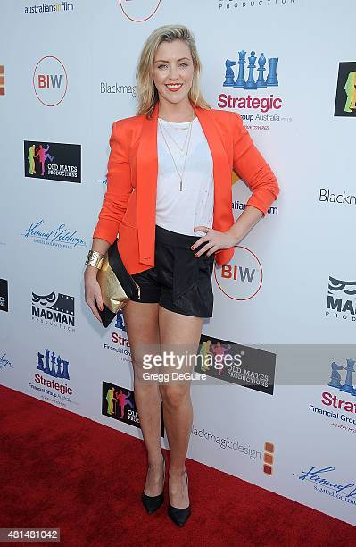 Actress Jacinta Stapleton arrives at the premiere Of 'That Sugar Film' hosted by Australians In Film on July 20 2015 in Los Angeles California