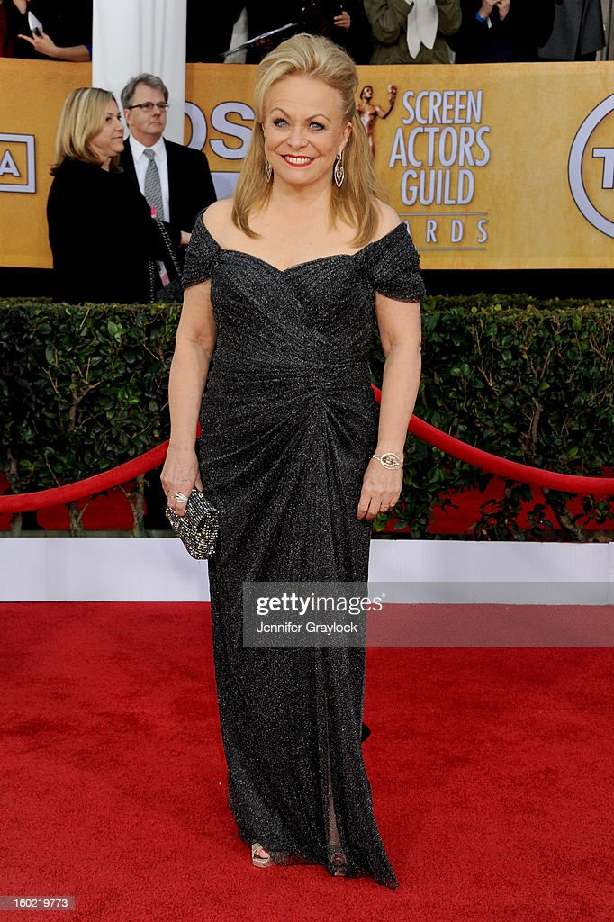 Actress Jacki Weaver arrives at the 19th Annual Screen Actors Guild Awards held at The Shrine Auditorium on January 27, 2013 in Los Angeles, California.