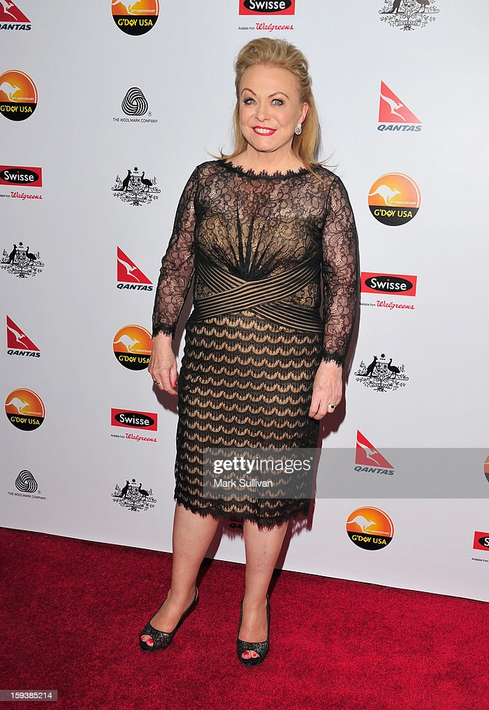 Actress Jacki Weaver arrives for the G'Day USA Black Tie Gala held at at the JW Marriot at LA Live on January 12, 2013 in Los Angeles, California.