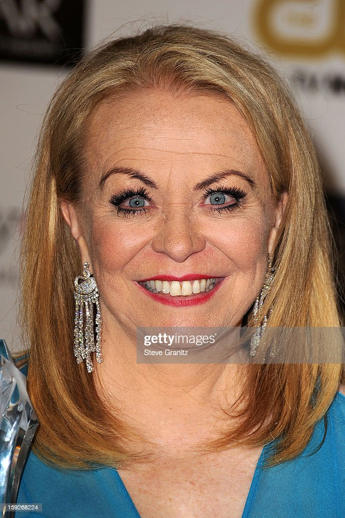Actress Jacki Weaver poses in the press room during the 18th Annual Critics' Choice Movie Awards at The Barker Hanger on January 10, 2013 in Santa Monica, California.