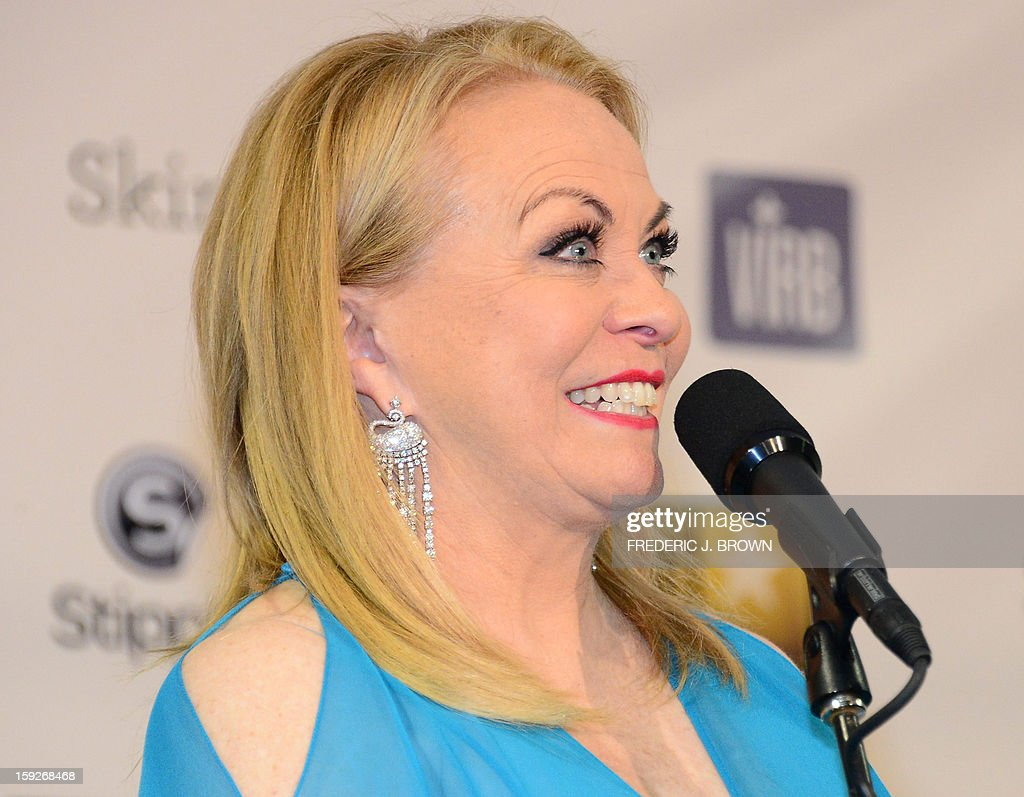 Actress Jacki Weaver, who won Best Acting Ensemble for 'Silver Linings Playbook,' celebrates in the press room during the 18th Annual Critics' Choice Movie Awards in Santa Monica on January 10, 2013 in California. AFP PHOTO / Frederic J. BROWN