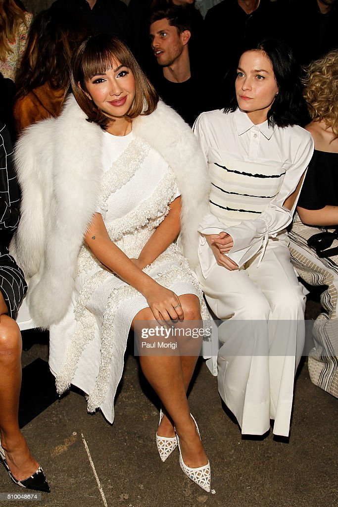 Actress <a gi-track='captionPersonalityLinkClicked' href=/galleries/search?phrase=Jackie+Cruz&family=editorial&specificpeople=7483698 ng-click='$event.stopPropagation()'>Jackie Cruz</a> (L) and DJ <a gi-track='captionPersonalityLinkClicked' href=/galleries/search?phrase=Leigh+Lezark&family=editorial&specificpeople=618872 ng-click='$event.stopPropagation()'>Leigh Lezark</a> attend the Christian Siriano Fall 2016 fashion show during New York Fashion Week at ArtBeam on February 13, 2016 in New York City.