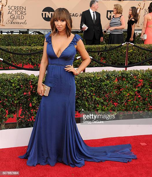 Actress Jackie Cruz arrives at the 22nd Annual Screen Actors Guild Awards at The Shrine Auditorium on January 30 2016 in Los Angeles California