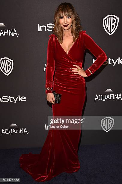 Actress Jackie Cruz attends InStyle and Warner Bros 73rd Annual Golden Globe Awards PostParty at The Beverly Hilton Hotel on January 10 2016 in...