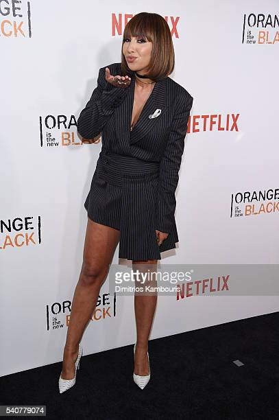Actress Jackie Cruz attends 'Orange Is The New Black' premiere at SVA Theater on June 16 2016 in New York City