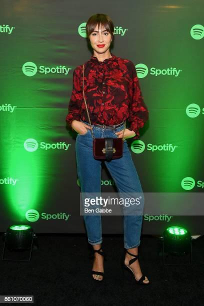 Actress Jackie Cruz attends Spotify's Soundtrack de Mi Vida Campaign Celebration on October 13 2017 in New York City