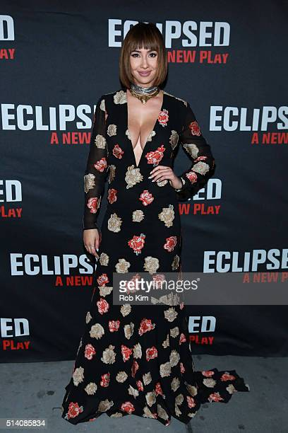 Actress Jackie Cruz attends the 'Eclipsed' broadway opening night at The Golden Theatre on March 6 2016 in New York City