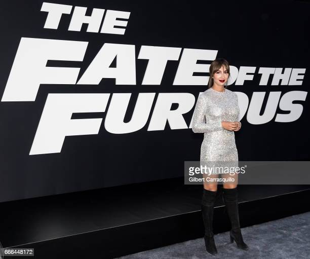 Actress Jackie Cruz attends 'The Fate Of The Furious' New York Premiere at Radio City Music Hall on April 8 2017 in New York City