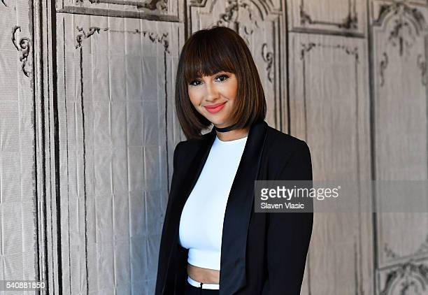 Actress Jackie Cruz visits AOL Build to discuss the upcoming 4th season of 'Orange Is the New Black' premiering June 17th at AOL Studios In New York...