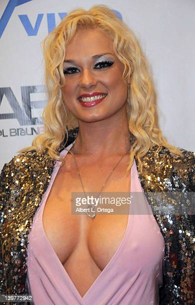 Actress Jackie Delgado arrives for the Premiere Of Vivid Entertainment's 'Star Wars XXX A Porn Parody' held at SupperClub on February 23 2012 in...