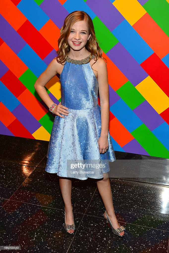 Actress Jackie Evancho attends 'The Company You Keep' New York Premiere at The Museum of Modern Art on April 1, 2013 in New York City.