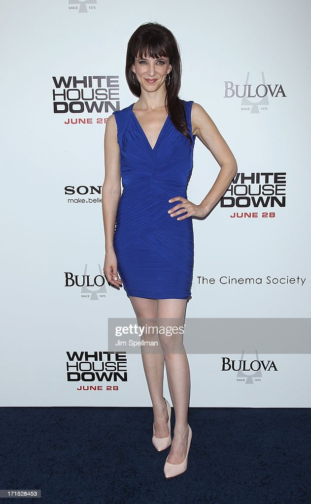 Actress Jackie Geary attends 'White House Down' New York Premiere at Ziegfeld Theater on June 25, 2013 in New York City.