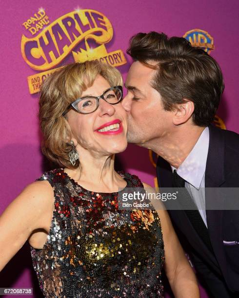 Actress Jackie Hoffman and actor Andrew Rannells attend the 'Charlie And The Chocolate Factory' Broadway Opening Night After Party at Pier 60 on...