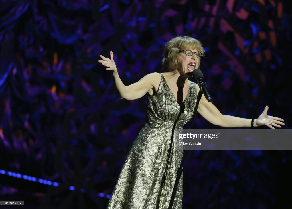 Actress Jackie Hoffman performs onstage during the International Myeloma Foundation's 7th Annual Comedy Celebration Benefiting The Peter Boyle Research Fund hosted by Ray Romano at The Wilshire Ebell Theatre on November 9, 2013 in Los Angeles, California.