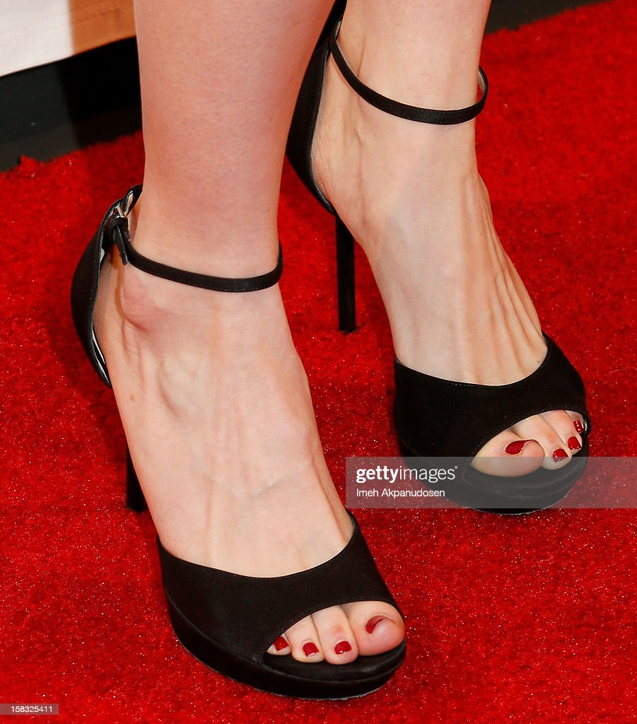 Actress Jackie Koppell (shoe detail) attends the 14th Annual Women's Image Network Awards at Paramount Theater on the Paramount Studios lot on December 12, 2012 in Hollywood, California.