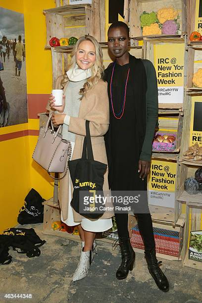 Actress Jackie Miranne and model Nykhor Paul attend IRC Fashion Week PopUp and Photo Exhibition at Empire Hotel on February 14 2015 in New York City