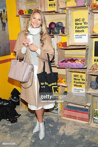 Actress Jackie Miranne attends IRC Fashion Week PopUp and Photo Exhibition at Empire Hotel on February 14 2015 in New York City